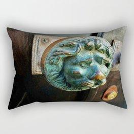 Lion's Head Rectangular Pillow