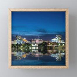 Heinz Field at night - Pittsburgh NFL stadium Framed Mini Art Print