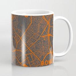 Rome Map orange Coffee Mug