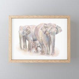 Elephant Family Framed Mini Art Print
