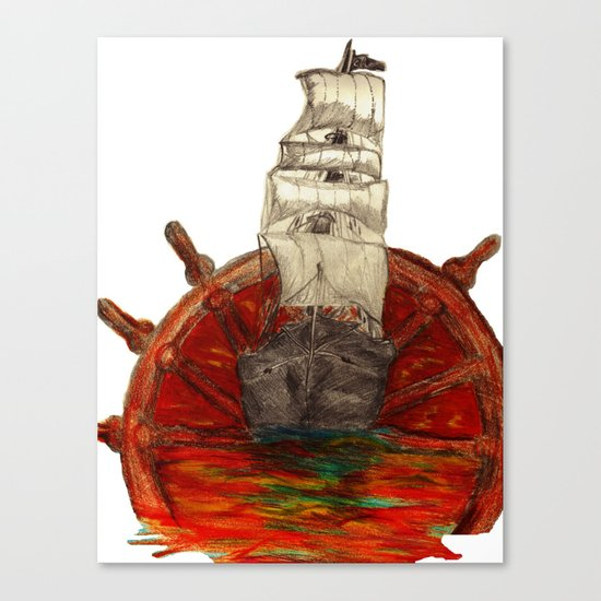 Steering into a new setting Canvas Print