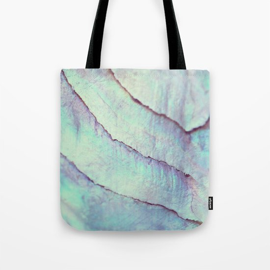 IRIDISCENT SEASHELL MINT by Monika Strigel Tote Bag