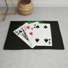 Blackjack Card Game, 21 Count, Queen Seven Four Combination Rug