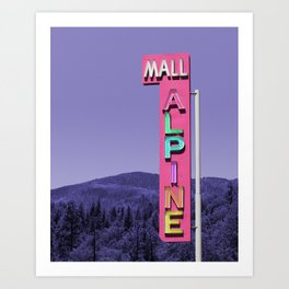 Alpine Mall Vintage Neon Sign Art Print