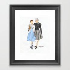 Prep School Girls fashion illustration  Framed Art Print
