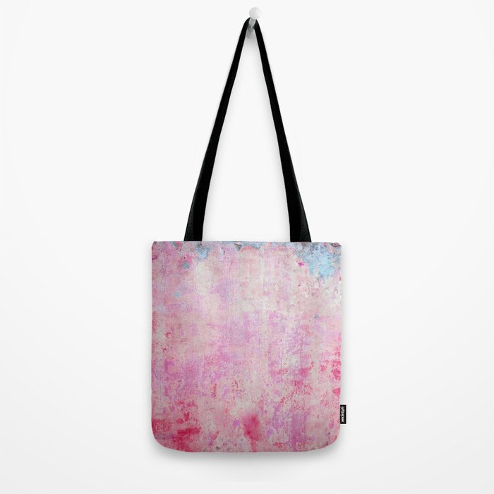 abstract vintage wall texture - pink retro style background Tote Bag