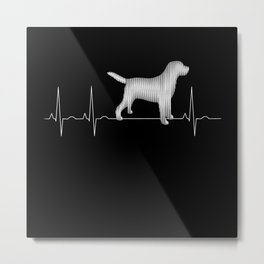 Labrador Retriever Heartbeat EKG Lab Owner Pet Metal Print