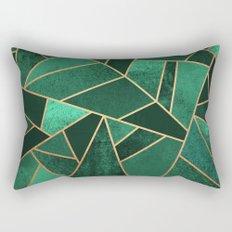 Emerald and Copper Rectangular Pillow