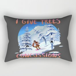 Snowboard Steve - I give trees concussions Rectangular Pillow