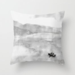 Three in a Boat Throw Pillow
