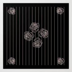 rose border 6 Art Print