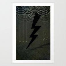 The Black Bolt Art Print