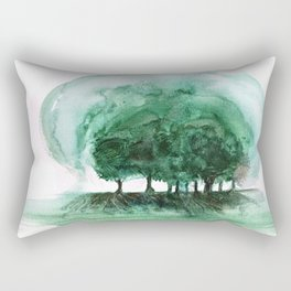 Exposed, abstract tree roots Rectangular Pillow