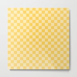 Sunshine Checkerboard Metal Print