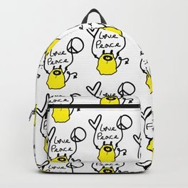 Love Peace Monster Backpack