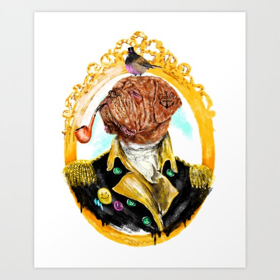 Captain mastiff Art Print