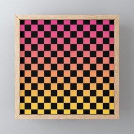 Pink Yellow Checkerboard Gradient Framed Mini Art Print
