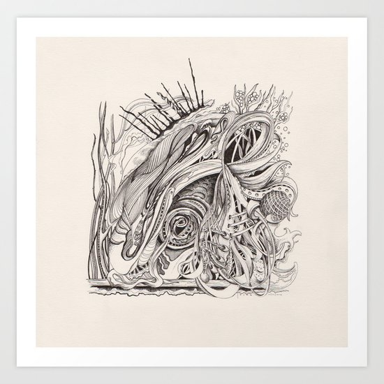 abstract doodle #1 Art Print