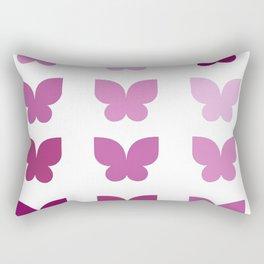 Butterflies in Purple Ombre Rectangular Pillow