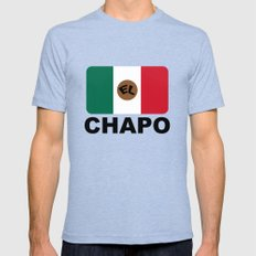 El Chapo Mexican flag Mens Fitted Tee 2X-LARGE Tri-Blue