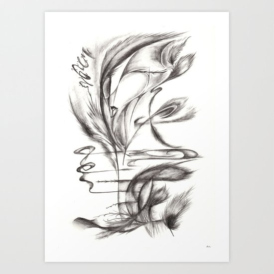 Feather Lover Art Print