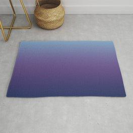 Ombre Blue Ultra Violet Gradient Pattern Rug