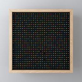 Flashing Neon Lights Print Framed Mini Art Print