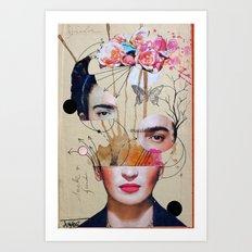 FRIDA FOR BEGINNERS Art Print