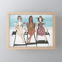 Girlfriends Vacay Framed Mini Art Print