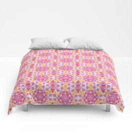 Pink Hippie Mandala Pattern Comforters