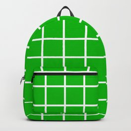 GRID DESIGN (WHITE-GREEN) Backpack