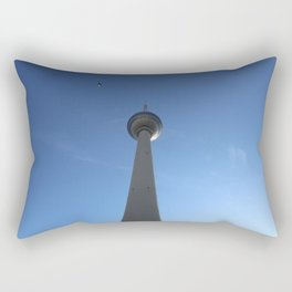 Television Tower Berlin with Bird Rectangular Pillow