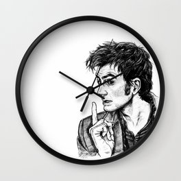 "The Doctor - David Tennant - ""Fingers on Lips!"" Wall Clock"