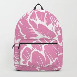 Flower Bloom, Line Art, Floral Prints, Bubble Gum Pink Backpack