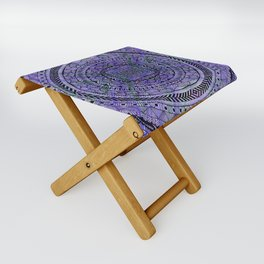 Zentangle Mandala Folding Stool
