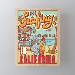 The Best Surfing – Santa Monica Beach Framed Mini Art Print