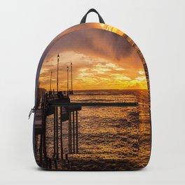 Redondo Beach Stormy Sunset Backpack