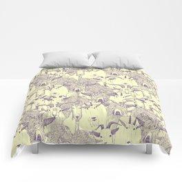 just goats purple cream Comforters