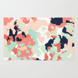 Suma - abstract gender neutral trendy home office nursery decor painting Rug