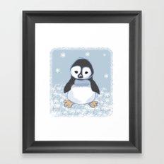 Frosty pinguin Framed Art Print