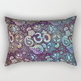 Sweet watercolor pastel  OM symbol pattern Rectangular Pillow