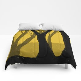 Magical Forest in Gold Comforters
