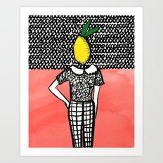 Lemon Head Art Print