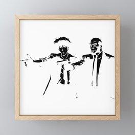 Cowboy Bebop - Spike Jet Knockout Black Framed Mini Art Print