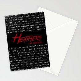 Heathers Lyrics Mish-Mash Stationery Cards