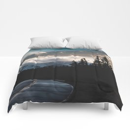 Mount Evans Sunset Comforters