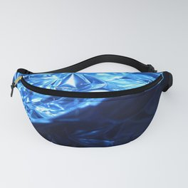 This Cold Elegance in Chrome Folds  Fanny Pack