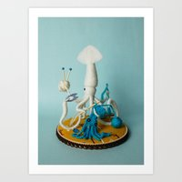 White Squid, Crafter Art Print