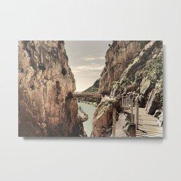 """The most dangerous trail in the world II"". El Caminito del Rey  Metal Print"