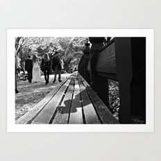 Bench or Bride? Art Print